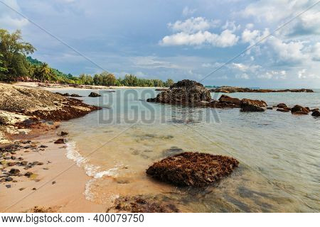 Tropical beach in sunny day. Khao Lak province, Thailand.