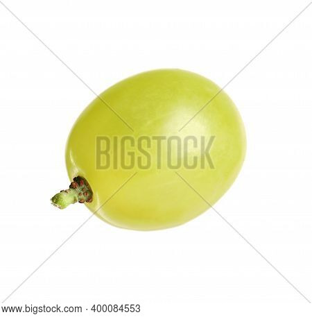 Delicious Ripe Green Grape Isolated On White