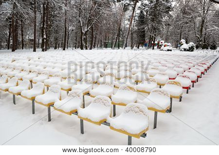 Snow-covered Seats
