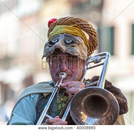 Funny Man Trombone Player