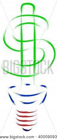 dollar bulb concept