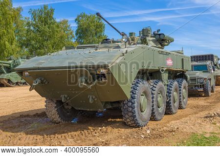 Alabino, Russia - August 25, 2020: Infantry Fighting Vehicle К-17 Based On The Boomerang Unified Com