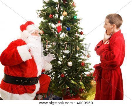 Santa Surprised By Child