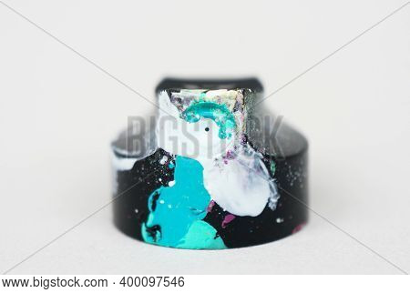 Modern Art Concept, Aerosol Paint Cap, Graffiti Theme, Paint Splatter Smudges