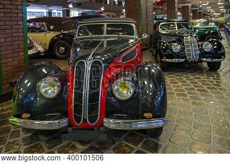 Arkhangelskoe, Russia - June 21, 2020: Retro Car Bmw 327 Cabrio In The Vadim Zadorozhny Museum Of Te