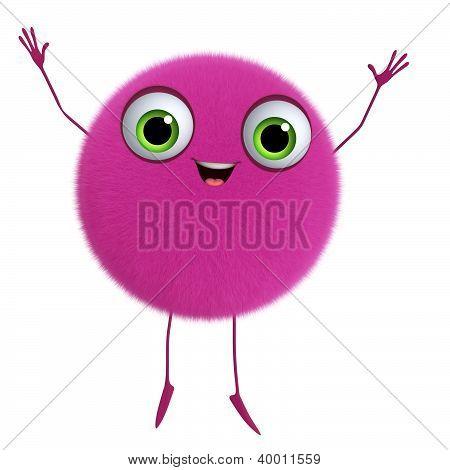 3D Cartoon Cute Pink Ball