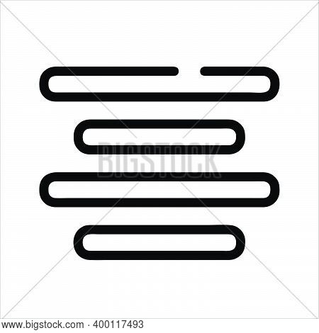 Center Alignment Icon Isolated On White Background From Text Editor Collection. Center Alignment Ico