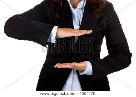 Businesswoman Hands Close Up