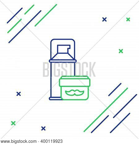 Line Shaving Gel Foam Icon Isolated On White Background. Shaving Cream. Colorful Outline Concept. Ve