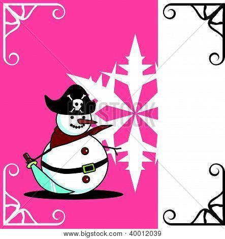 pirate snowman card