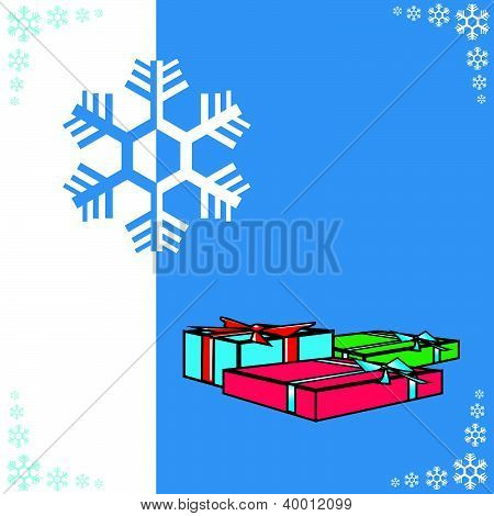 gift boxes and snowflake