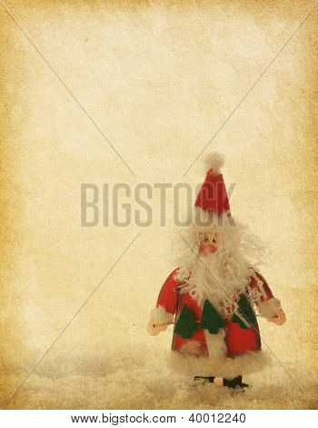 old paper with Santa Claus