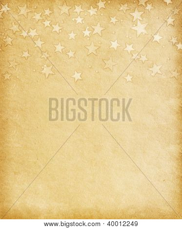 vintage paper decorated with  grunge stars