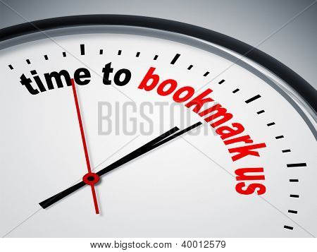 An image of a nice clock with time to bookmark us