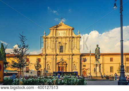 Florence, Italy, September 15, 2018: San Marco Religious Complex In Florence Historical Centre With