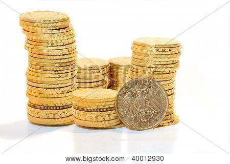 German Deutsch mark Gold coins