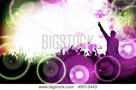 Festival. Crowd of dancing people