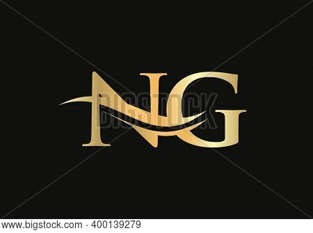 Initial Ng Logo Design For Business And Company Identity. Ng Letter Logo With Luxury Concept.