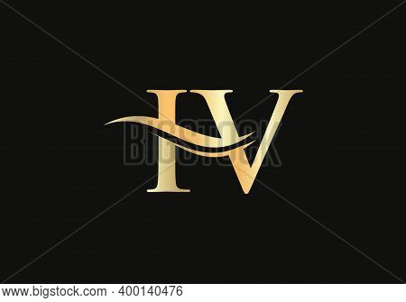Premium Iv Letter Logo Design. Iv Logo For Luxury Branding. Elegant And Stylish Design For Your Comp