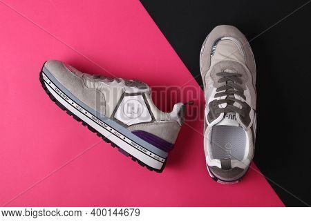 Jeddah Saudi Arabia December 19 2020: Liu.jo Shoes. Liu.jo , Multinational Company. Isolated On Purp