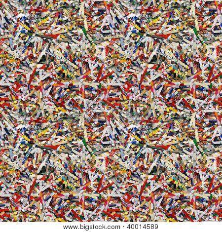 Shredded Paper Seamless Wallpaper Pattern