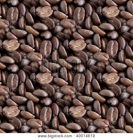 Coffee Beans Seamless Background Pattern
