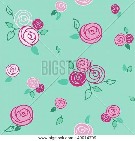roses - seamless pattern
