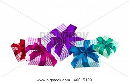 Colorful giftboxes