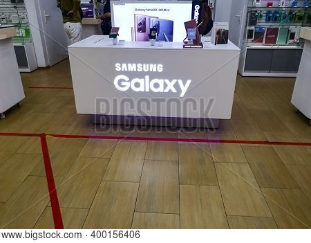 Presentation Of The New Smartphone Samsung Galaxy Note 20 In The Showroom Of Cell Phones 12.11.2020