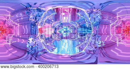 Full 360 Degree Equi Rectangular Seamless Hdr Panorama Of Technology Science Fiction Design 3d Rende