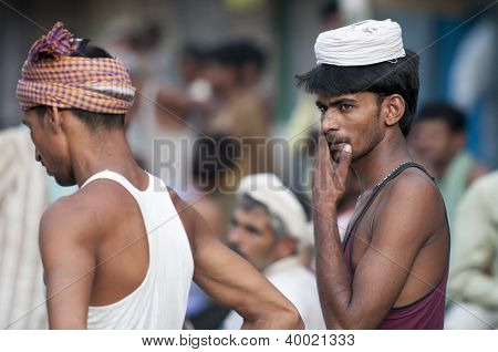 Indian Spice Market Laborer