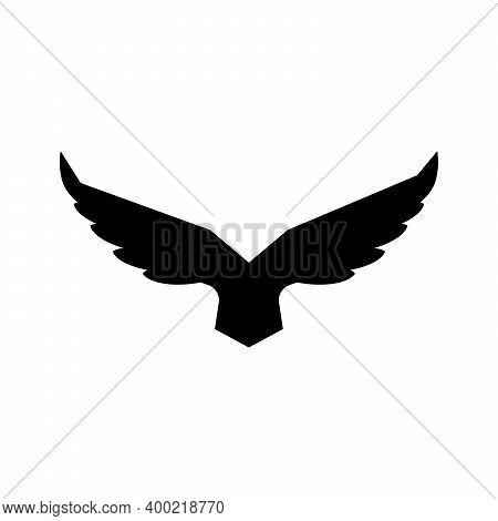 Falcon Soaring Rising Wings Logo Design Vector Template.luxury Corporate Heraldic Flying Eagle Phoen