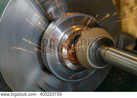 High-precision Finishing Of The Part By Grinding With A Face Abrasive Wheel On A Cylindrical Grindin