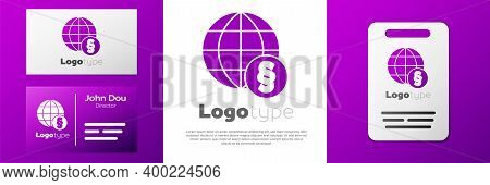 Logotype International Law Icon Isolated On White Background. Global Law Logo. Legal Justice Verdict