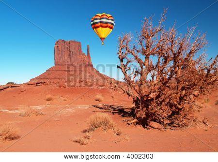 Monument Valley Navajo Tribal Park in Utah poster