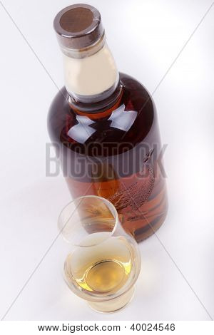 Whisky On A White Background