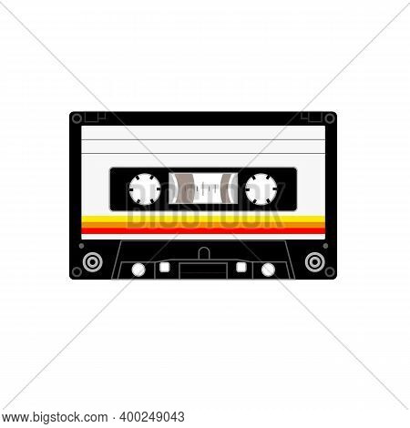 Old Styled Music Cassette , Side A , Side B , Classic Black