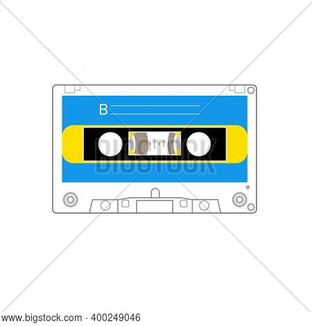 Colorful Old Styled Cassette, Side A , Side B