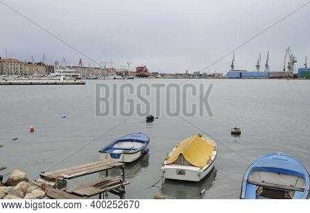 Cargo Port In Pula, Istria, Croatia