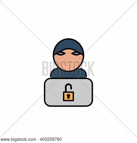 Hacker, Hacker Icon. Can Be Used For Web, Logo, Mobile App, Ui, Ux