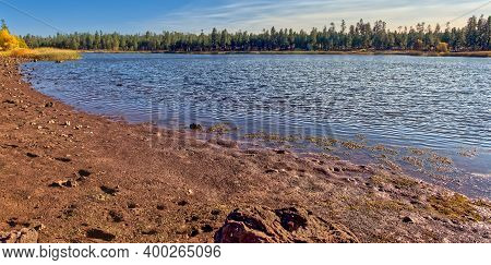Northeast Shoreline View Of White Horse Lake Near Williams Arizona. Located Within The Kaibab Nation