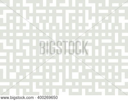 Abstract Geometric Pattern In Chinese Vintage Decorative Style. Eastern Background With Labirint  Li