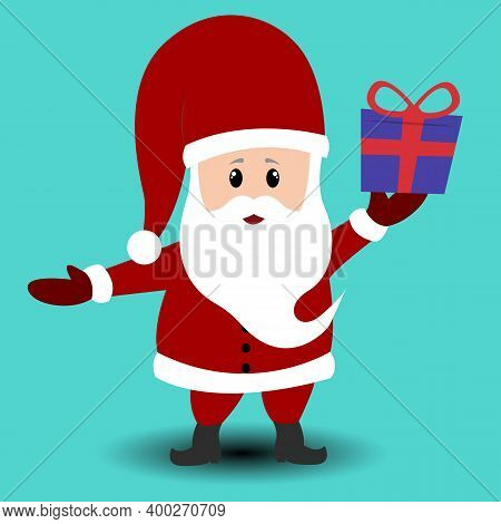 Santa Claus. Merry Christmas. Happy New Year. Santa Claus Hat. Christmas Suit. Santa Claus Isolated