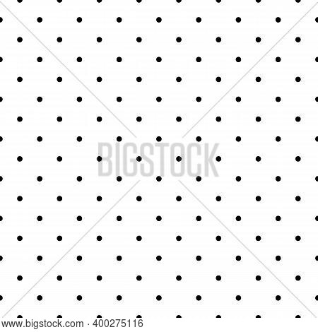 Seamless Pattern. Circles Ornament. Dots Wallpaper. Polka Dot Motif. Geometric Backdrop. Vector Artw