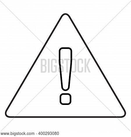 Warning Icon Isolated On White Background From Interface Collection. Warning Icon Trendy And Modern