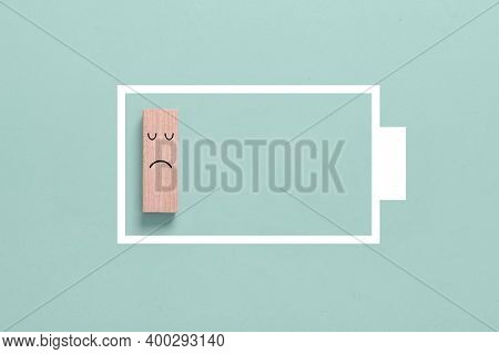 Energy Concept: Symbol Of Lack Of Energy Or Low Battery