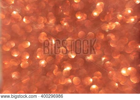 Abstract Modern Dark Orange Glitter Sparkle Background For Happy Birthday Invite, Spooky Fall Hallow
