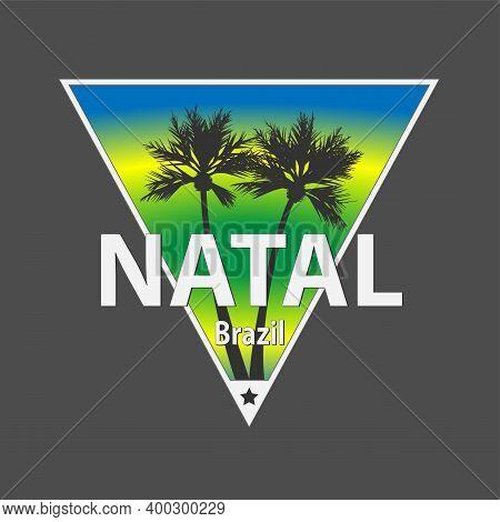Natal Brazil Vector Illustration Vector Tee Shirt Logo Design