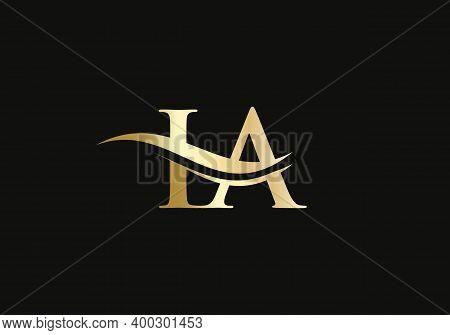 Initial Monogram Letter Ia Logo Design Vector. Ia Letter Logo Design With Modern Trendy