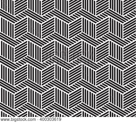 Black And White Pattern Geometric Abstract Graphic